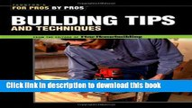 Ebook For Pros by Pros Building Tips Free Online