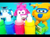 Robocar poli and Super wings fall into clayslime!Help them plz!❤TOYFAMILY PLAY TOYS
