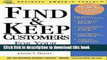 PDF  Find   Keep Customers for Your Small Business  Online