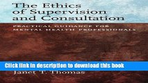 Books Ethics of Supervision and Consultation: Practical Guidance for Mental Health Professionals