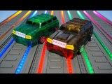 터닝메카드 그린 브라운 크로키 장난감 무지개 불빛 회전 소개 동영상 TurningMecard Car Toys