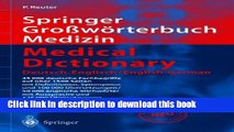 Ebook Springer Gro Worterbuch Medizin - Medical Dictionary Deutsch-Englisch/English-German