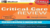 [PDF] Critical Care Review: Pearls of Wisdom, Second Edition Download Online