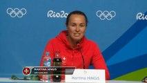 """Rio 2016 - Hingis : """"Déçue de ne pas jouer avec Federer"""""""