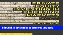 Books Private Equity Investing in Emerging Markets: Opportunities for Value Creation (Global