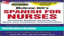 Books McGraw-Hill s Spanish for Nurses : A Practical Course for Quick and Confident
