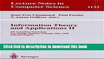 Books Information Theory and Applications II: 4th Canadian Workshop, Lac Delage, Quebec, Canada,