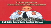 Ebook Principles of Real Estate Syndication: With Entertainment and Oil-Gas Syndication