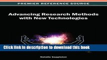 PDF  Advancing Research Methods with New Technologies (Premier Reference Source)  Free Books
