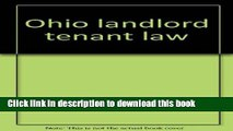 Books Ohio landlord tenant law (Baldwin s Ohio handbook series) Full Online
