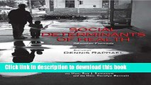 Books Social Determinants of Health, 2nd Edition: Canadian Perspectives Free Online