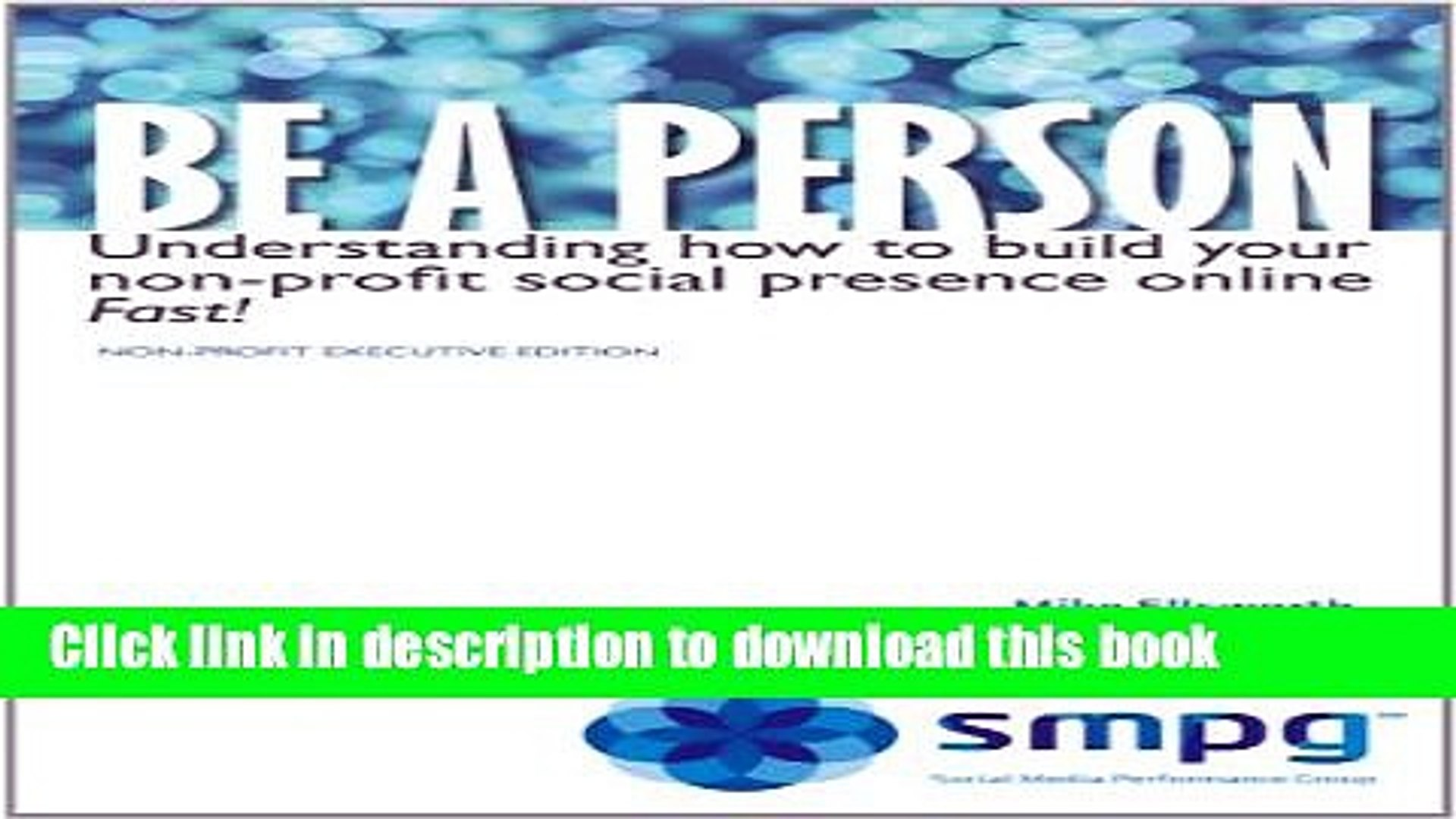 Ebook Be a Person - Non-Profit Executive Edition (Everything you need to build your social