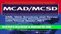 Books MCAD/MCSD XML Web Services and Server Components Development with Visual Basic .NET Study