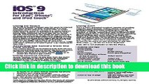 [Read PDF] iOS 9 Introduction Quick Reference Guide for iPad, iPhone, and iPod touch (Cheat Sheet