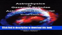 Ebook Astrophysics of Gaseous Nebulae and Active Galactic Nuclei Free Online
