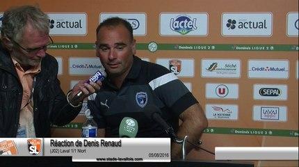 (J02) Laval 1-1 Niort, réaction de D. Renaud