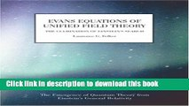 Ebook Evans Equations of Unified Field Theory Full Online