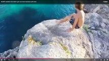 Le batard... Regardez son réflexe quand sa copine chute de la falaise