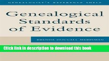 Ebook Genealogical Standards of Evidence: A Guide for Family Historians (Genealogist s Reference