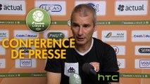 Conférence de presse Stade Lavallois - Chamois Niortais (1-1) : Denis ZANKO (LAVAL) - Denis RENAUD (CNFC) - 2016/2017
