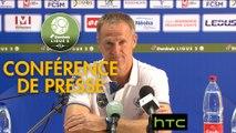 Conférence de presse FC Sochaux-Montbéliard - Valenciennes FC (0-0) : Albert CARTIER (FCSM) - Faruk HADZIBEGIC (VAFC) - 2016/2017