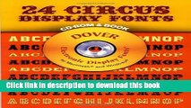 Books 24 Circus Display Fonts (Dover Electronic Display Fonts) (CD-ROM and Book) Full Online