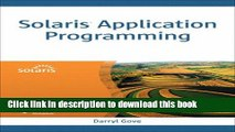 Download Solaris Systems Programming (paperback) PDF Free