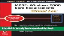 [Popular] Book MCSE Windows 2000 Core Requirements Virtual Lab Free Online