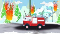 Emergency Vehicles Ambulance with Service Vehicles Tow Truck   Cars & Trucks Cartoons for children