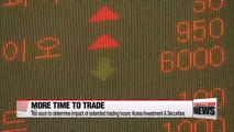 No positive impact on Korean stock trade values in first week of extended hours