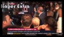Cumhurbaşkanı Erdoğan İstanbul'da. Megafonu Bilal Erdoğan Tutuyor