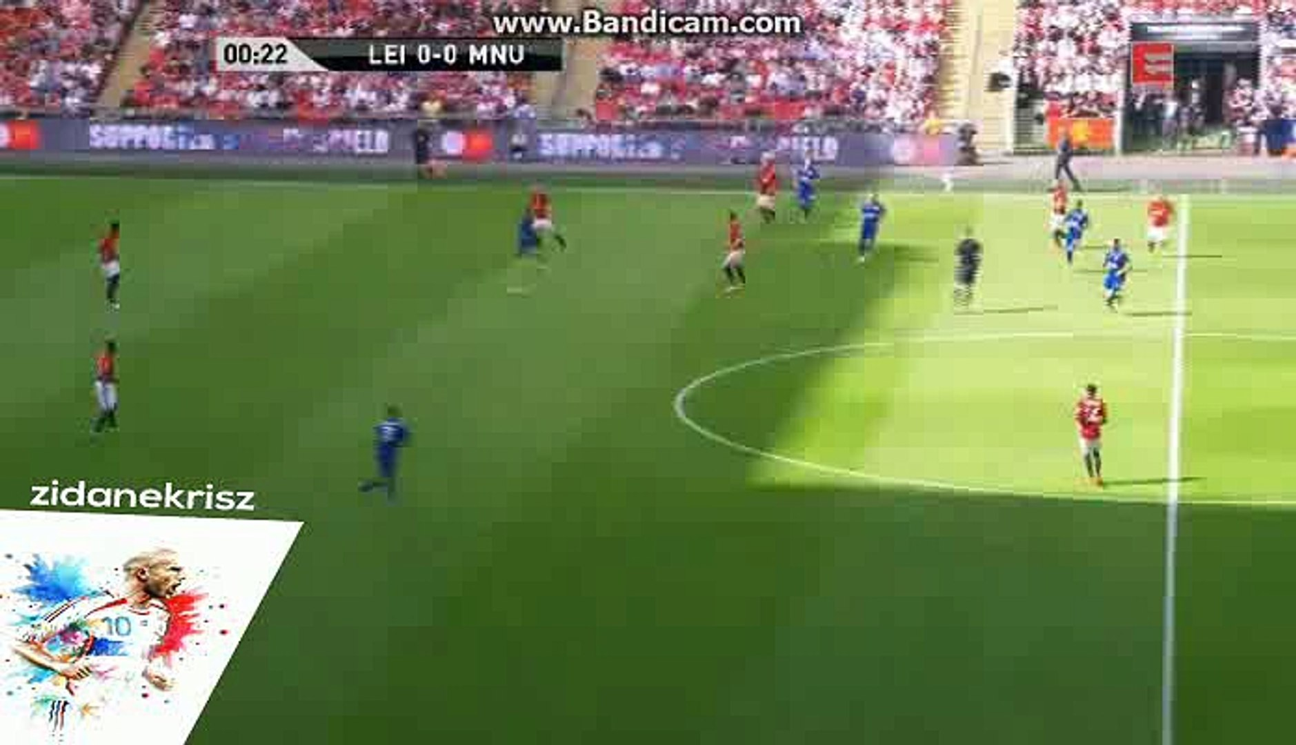Manchester United 1st Big Chance - Leicester City vs Manchester United - FA Community Shield - 07/08