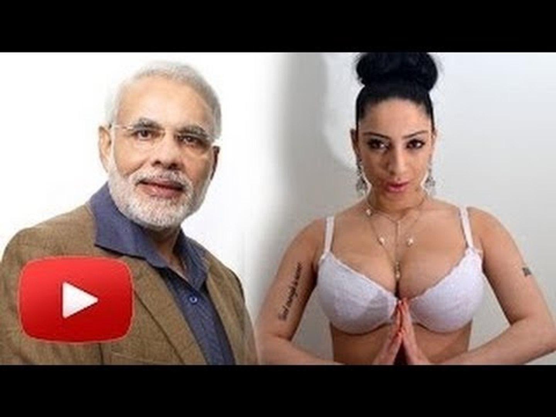 Porn Star Shanti Dynamite Supports Narendra Modi As Prime Mister !