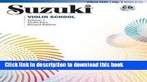 PDF Download) Suzuki Violin School Revised Edition Violin