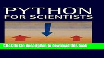 Download  Python for Scientists  Free Books