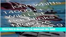 [Popular Books] 14000++ Wiki List Backlinks High DA PA PR 5-9 Free Download