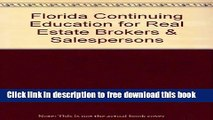 PDF] Continuing Education for Florida Real Estate