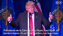 Donald Trump apoya a Paul Ryan