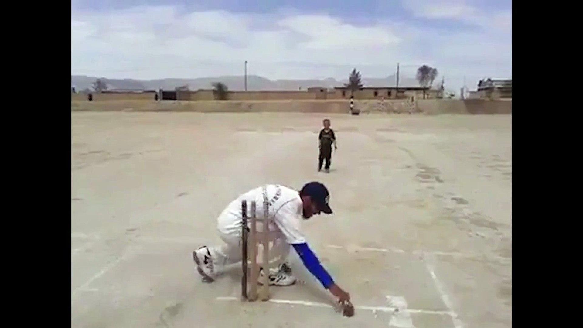 Amazing Young Kid Playing Cricket