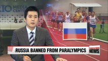 Russian team banned from 2016 Paralympics over doping