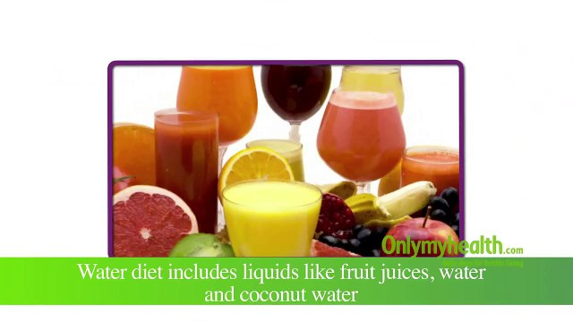 How to Lose Weight with Water Diet - Onlymyhealth.com