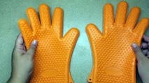 Homitt BBQ Grilling Gloves, Silicone Heat Resistant Oven Mitts