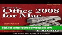 [Popular] E_Books Microsoft Office 2008 for Mac Bible Full Online