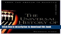 [Popular] E_Books The Universal History of Computing: From the Abacus to the Quantum Computer Free