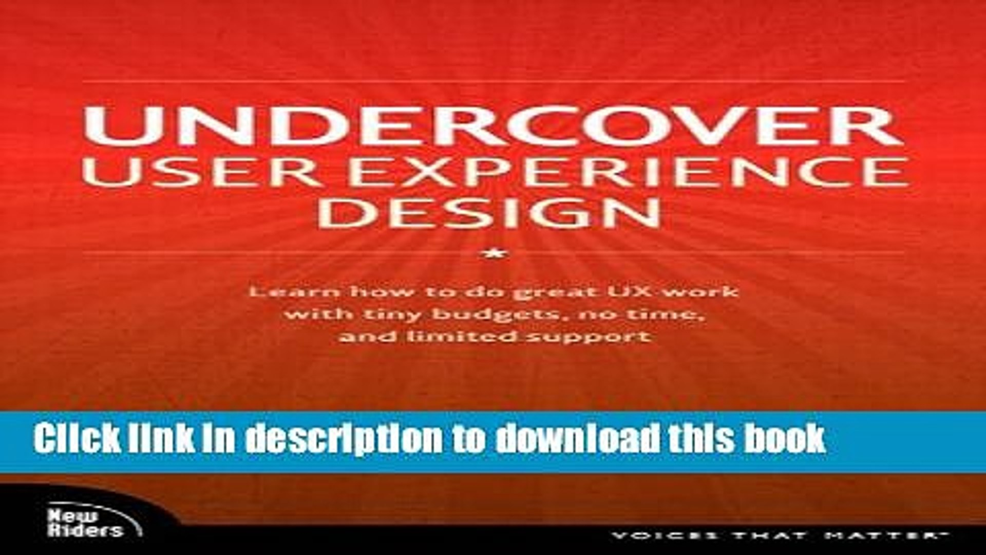 Popular Book Undercover User Experience Design Voices That Matter Free Online Video Dailymotion