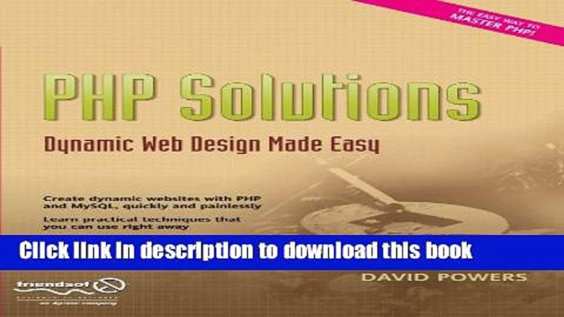 Popular Book Php Solutions Dynamic Web Design Made Easy Free Download Video Dailymotion