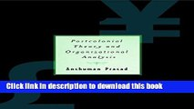 Download Postcolonial Theory and Organizational Analysis: A