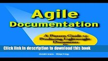 [Popular] Book Agile Documentation: A Pattern Guide to Producing Lightweight Documents for