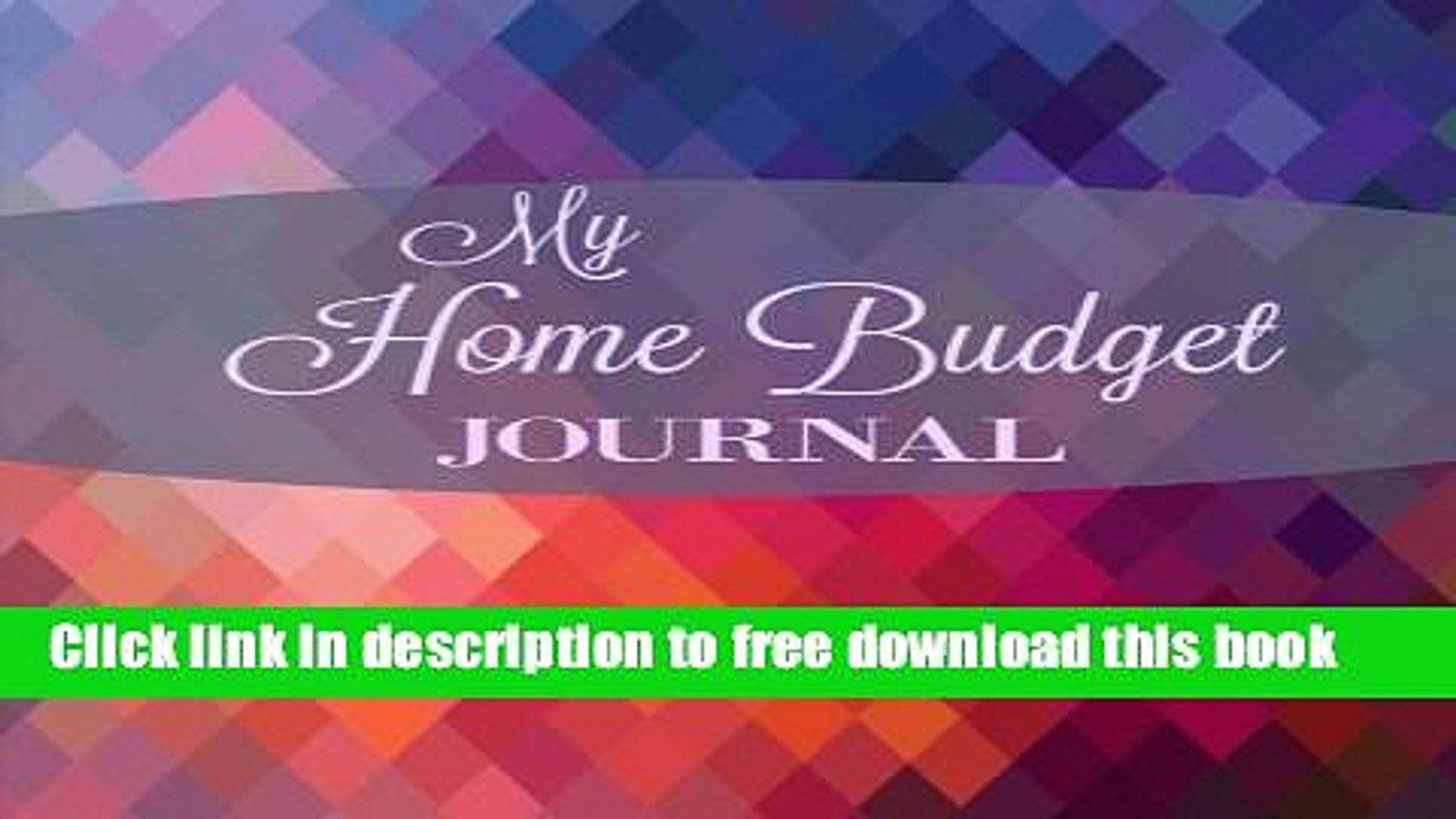 [Download] My Home Budget Journal (Extra Large Weekly Bill Planner with Note Pages and Goal