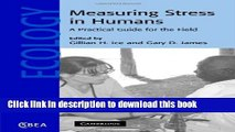 [Popular Books] Measuring Stress in Humans: A Practical Guide for the Field (Cambridge Studies in